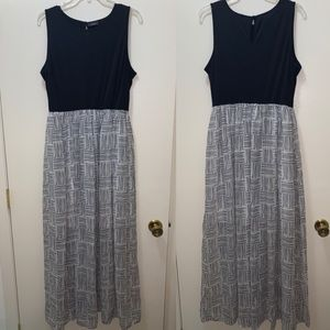Apt. 9 Large Black and White Maxi Dress